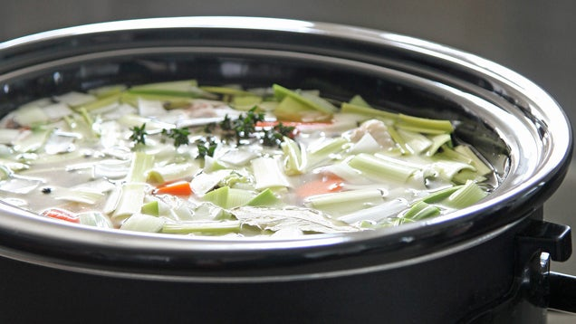 For Crystal-Clear Chicken Stock, Turn to the Slow Cooker