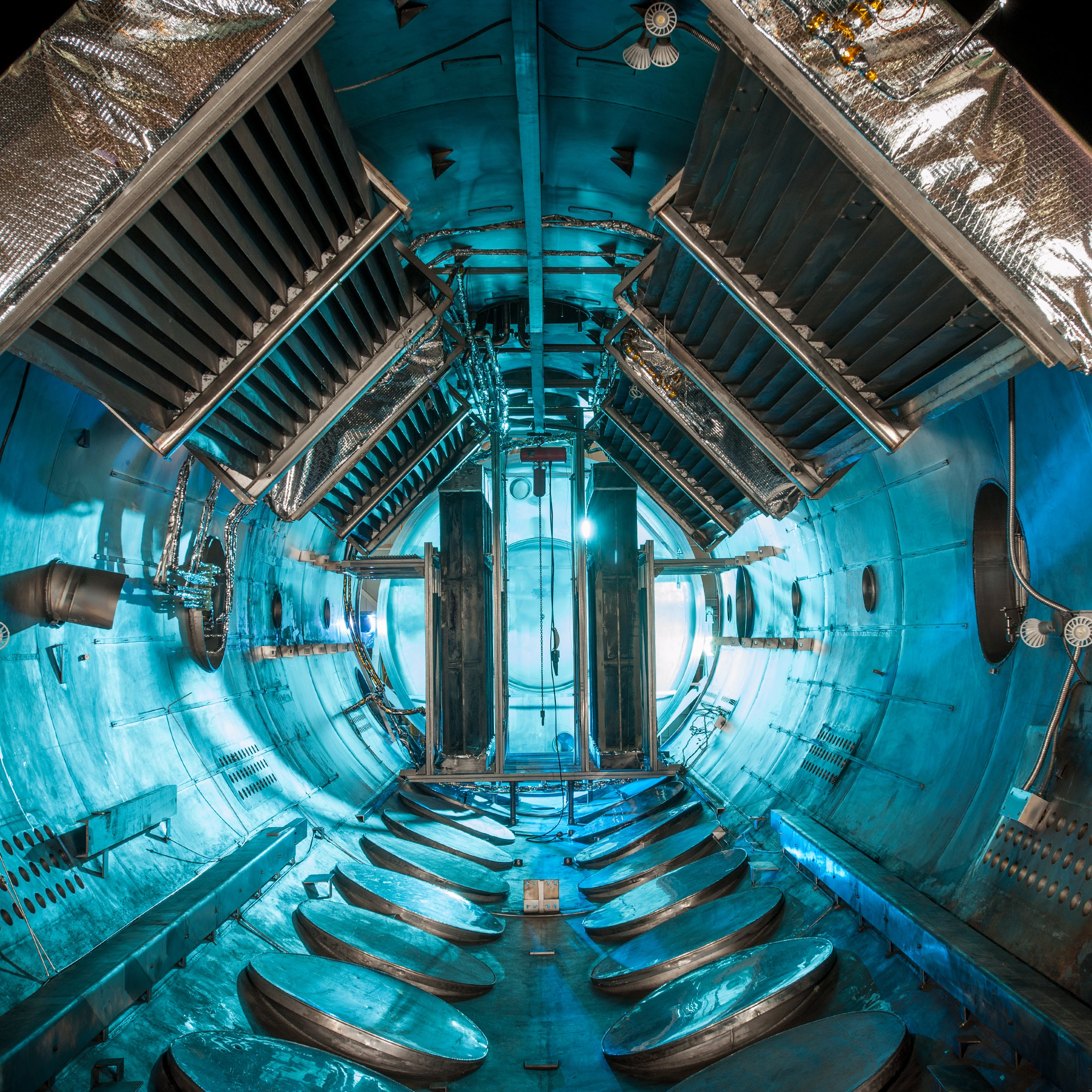 This Vacuum Chamber Looks Like Some Futuristic Spaceship Corridor
