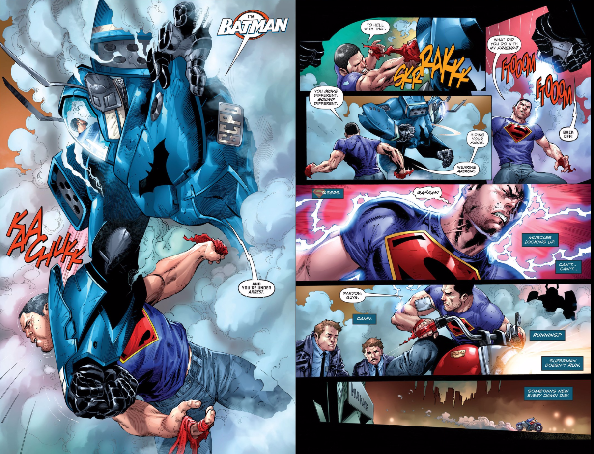 One Thing Not Changing at DC Comics: Batman Kicking Superman's Arse