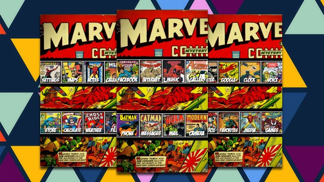 The Marvel Comics Home Screen