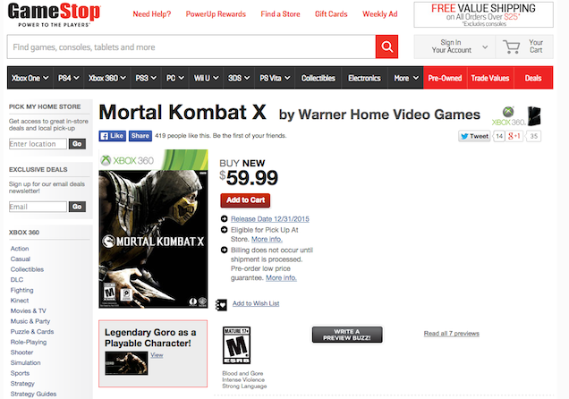What's Up With Mortal Kombat X On PS3 And 360?