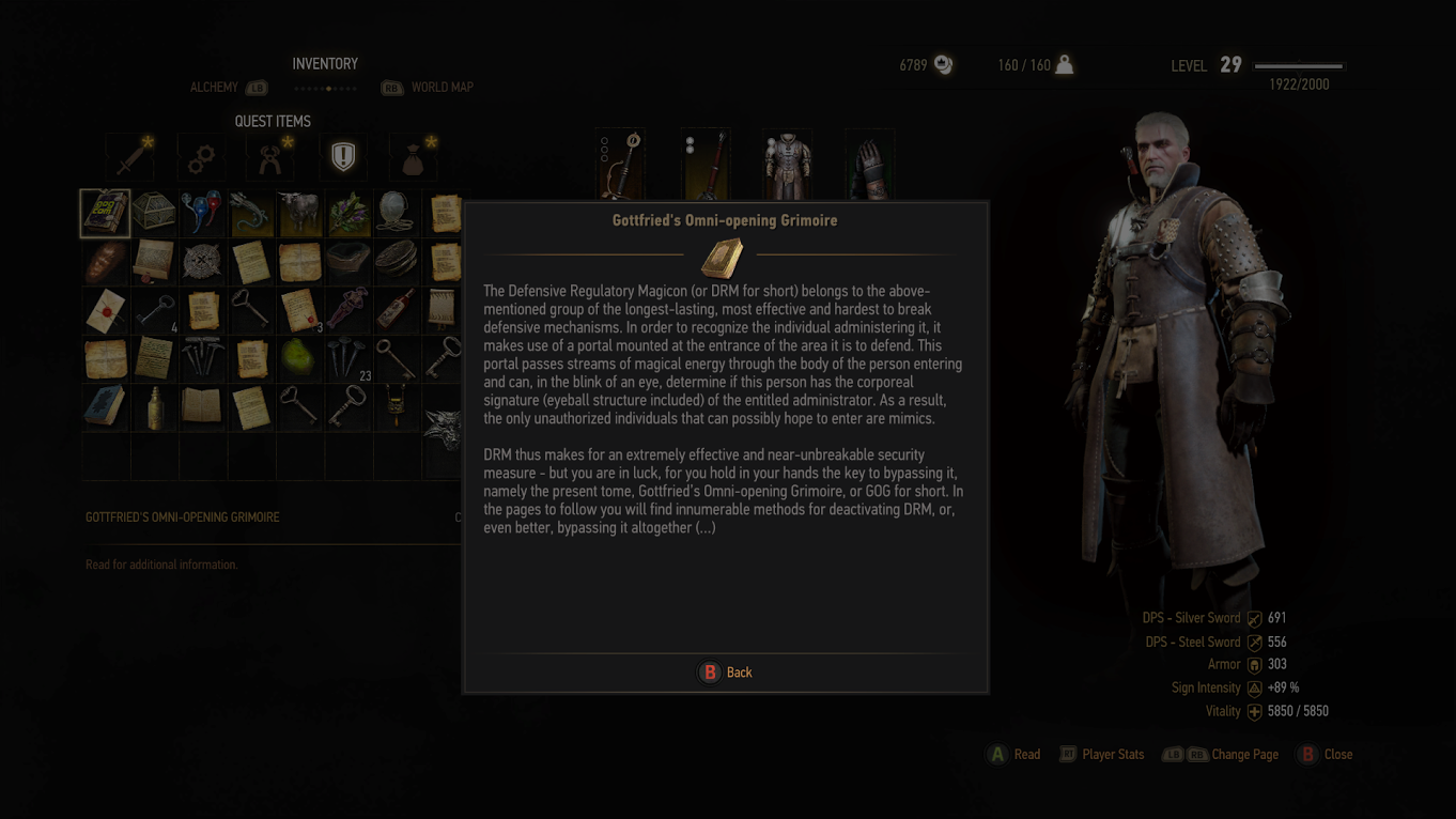 The Witcher 3 Takes Shots At DRM