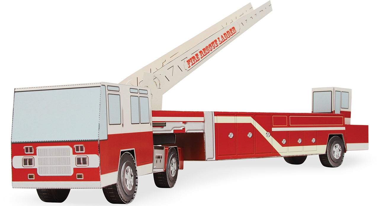 There's a Toy Fire Truck, Excavator, and Blimp Hiding In This Giant Book
