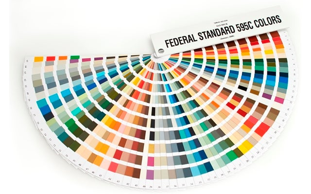 The 650 Official Colours the US Government Uses