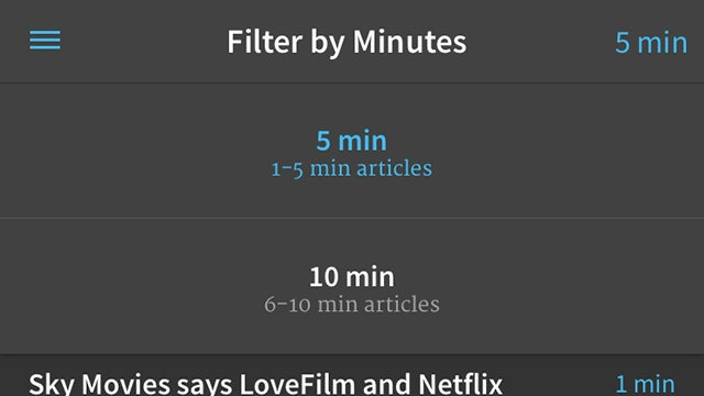 An App to Find the Quick Reads From Your Read-It-Later Lists
