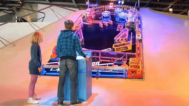 Unique Pinball Machine Is Too Big For Regular Basements