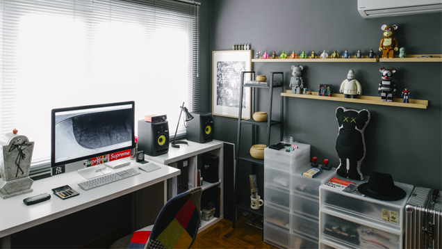 grey white and vinyl the designer toy workspace