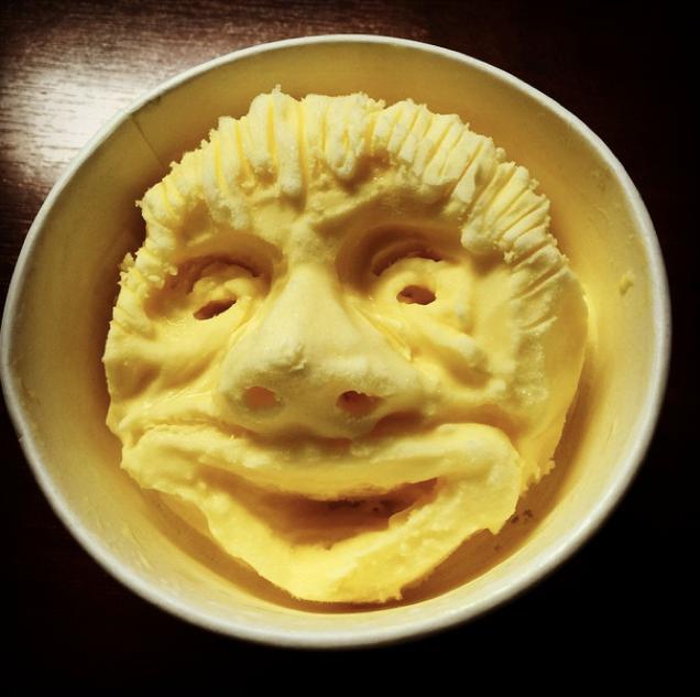 Japanese Ice Cream Face Art
