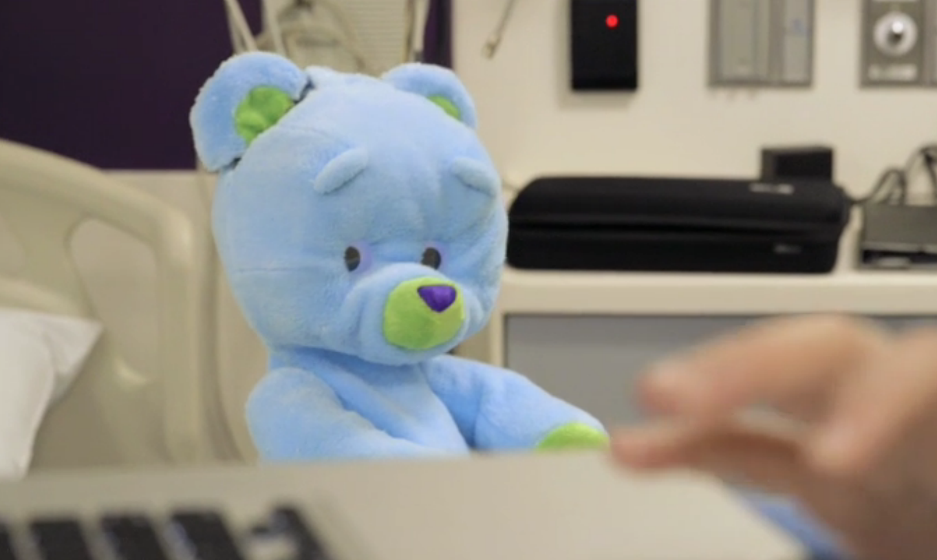 A Therapeutic Robot Teddy Bear Will Play With Kids in the Hospital