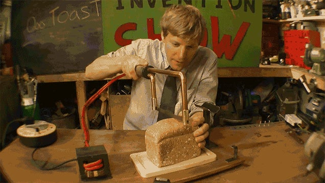 A Red Hot Knife That Toasts Bread As It Cuts Is Real and It Works