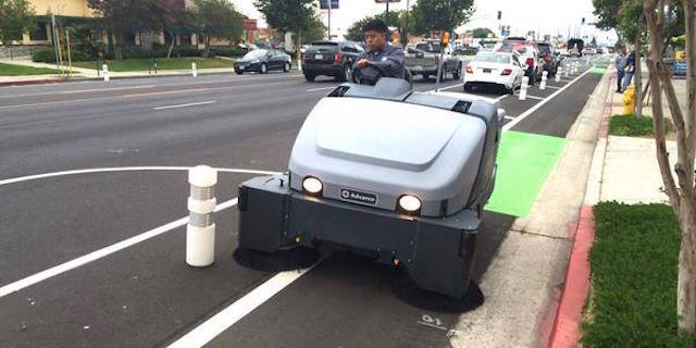 Look at This Cute Li'l Street Sweeper Just for Bike Lanes
