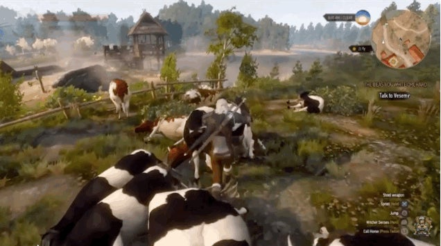 Witcher 3 Fixes Money Exploit By Adding Cow Army