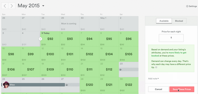 Airbnb's New Pricing Tool Makes It Easier for Owners to Set Prices