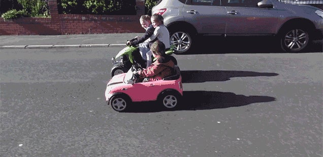 Awesome Dad Upgrades a Power Wheels With High-Speed Brushless Motors