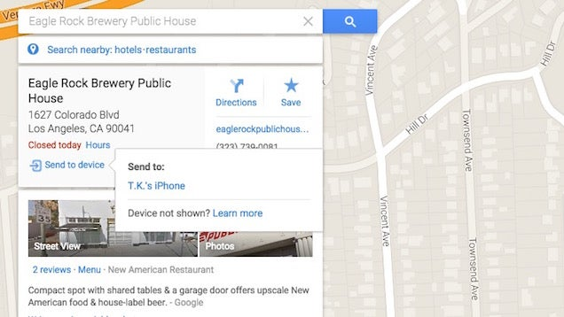 Google Maps Updated to Send Directions from Desktop to Your iPhone