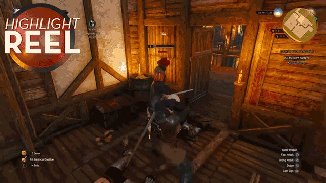 Witcher 3 Enemy Gets Blood God Damn Everywhere