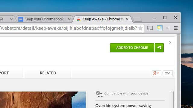 Keep Your Chromebook Screen Awake With This Add-On