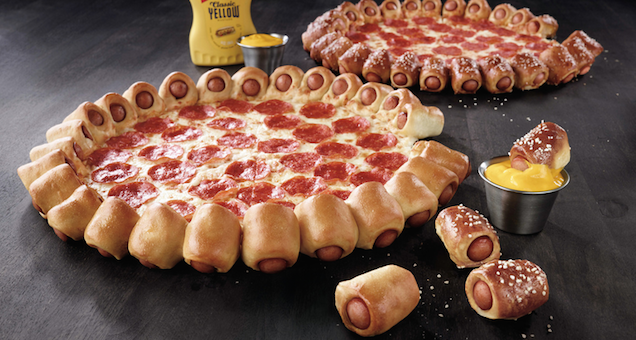 Pizza Hut's new hot dog pizza crust pizza is here to murder food forever