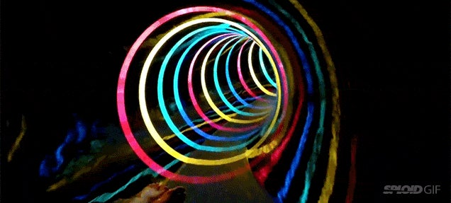 Awesome LED black hole water slide is like flying through a wormhole