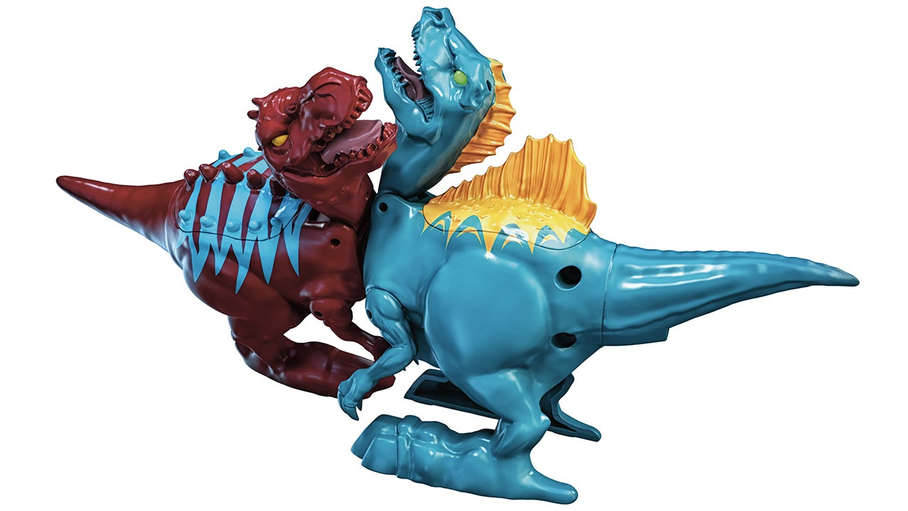 Spinning Magnetic Cores Make These Brawlasaurs Dinos Battle It Out