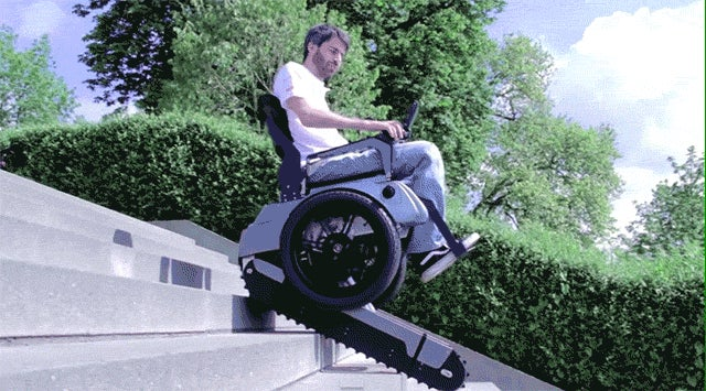 This Incredible Wheelchair Can Climb Stairs Like a Tank
