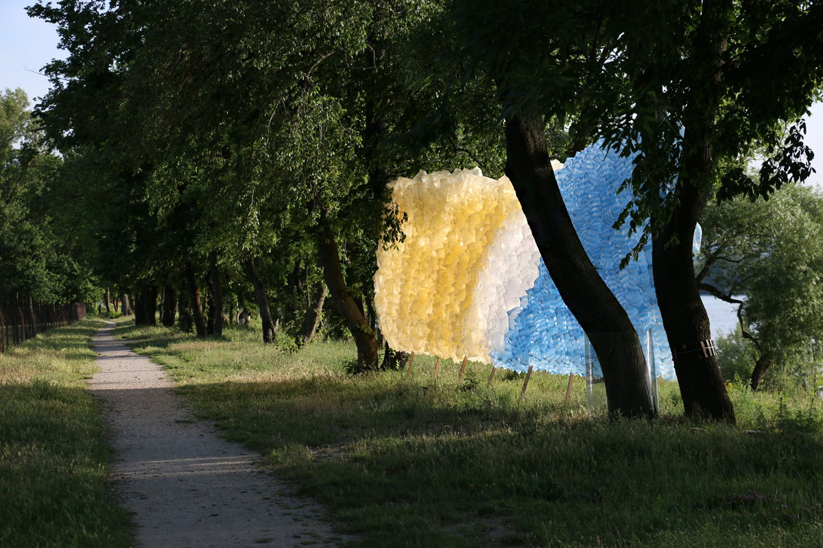 Weird Art Brings Plastic Shopping Bags Closer to Nature