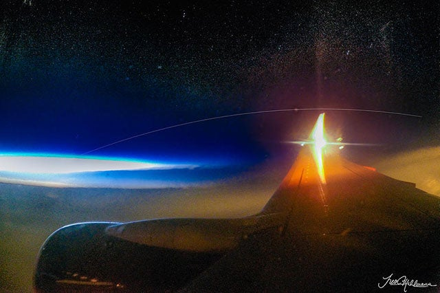 Aspiring Astronaut Photographs the ISS From 40 Thousand Feet Up