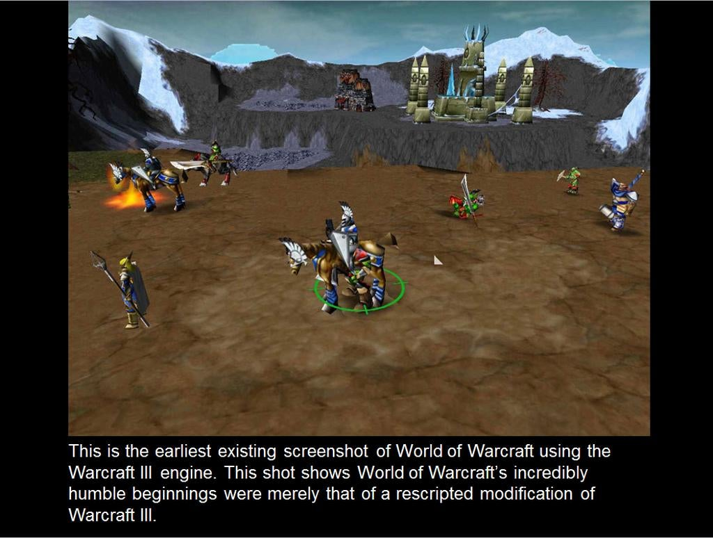 Very Early Screenshots Of World of Warcraft