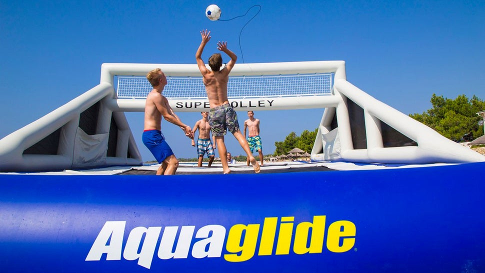 A Giant Inflatable Volleyball Court Saves You From Playing On Hot Sand