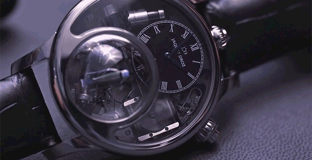 Listen To the Mechanical Melody of This Watch's Tiny Animated Bird