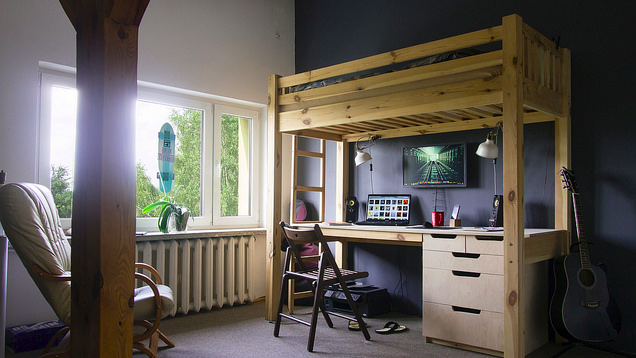 The Diy Loft Bed Workspace Lifehacker Australia