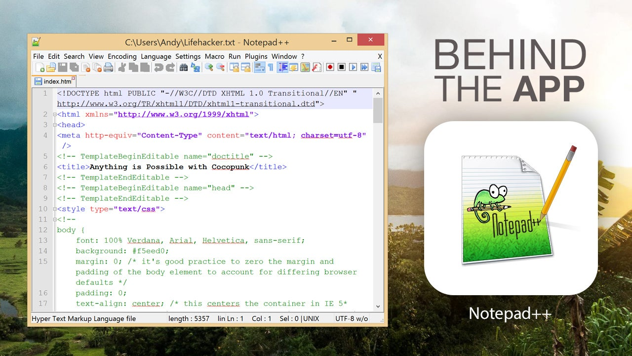 Behind the App: The Story of Notepad++