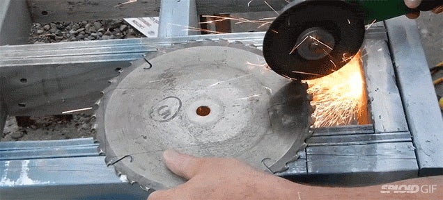 Making a meat cleaver from a circular saw blade
