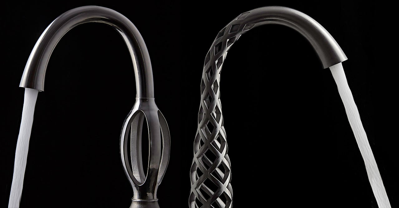 These Impossibly Twisted 3D-Printed Faucets Somehow Actually Work