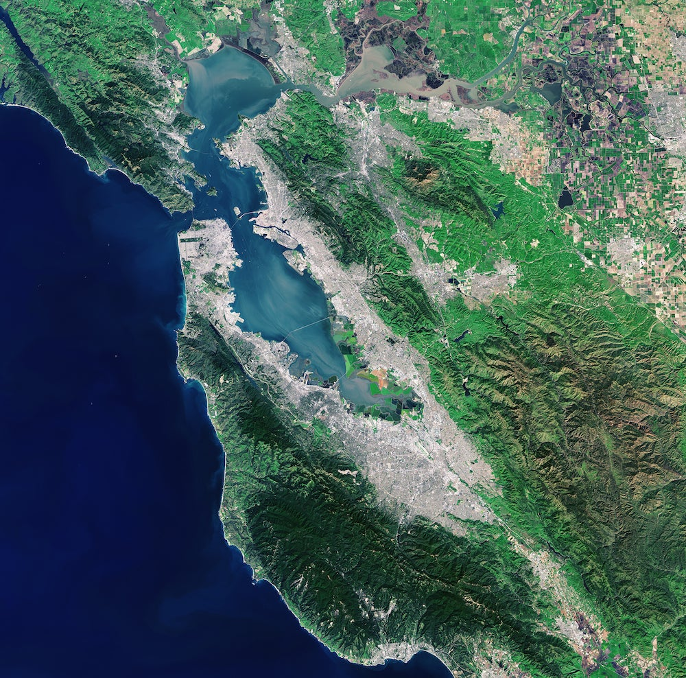 The Bay Area From 400 Miles Above the Earth's Surface