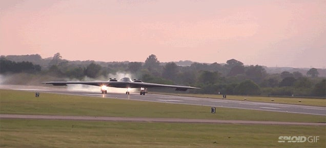 Seeing B-2 stealth bombers land is like seeing alien UFOs come to Earth
