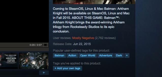 Batman: Arkham Knight's PC Version Is A Mess