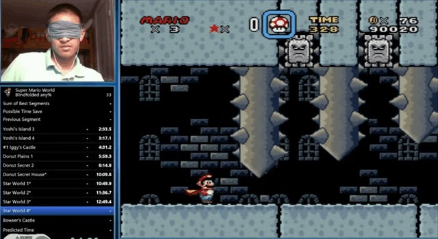 Guy Beats Super Mario World In 23 Minutes...While Blindfolded