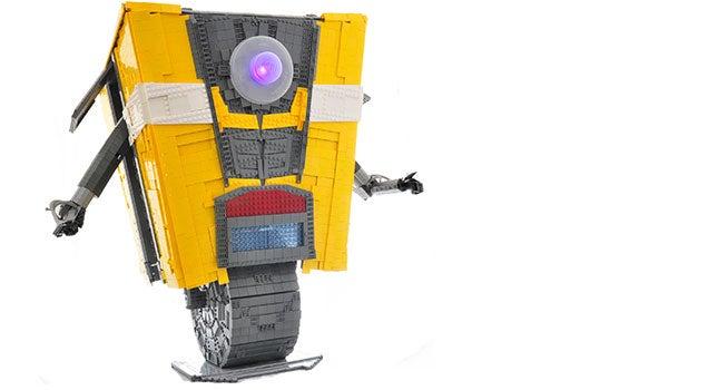 Life-Size LEGO Claptrap Is A Bricky Smartass