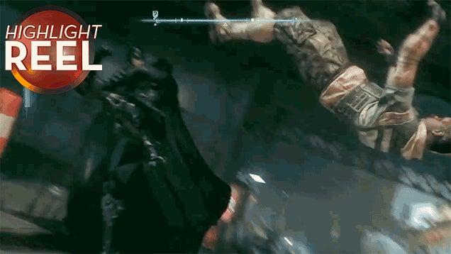 Batman Kicks A Henchman Silly