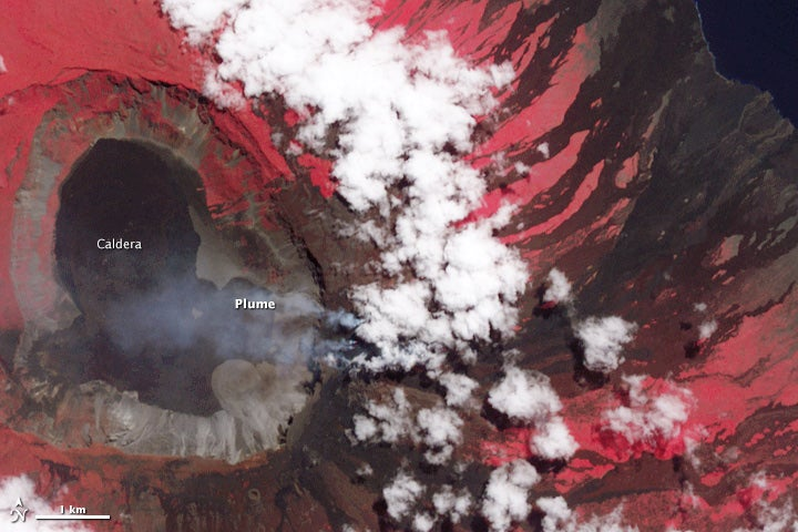 NASA's Thermal Camera Turns Galapagos Volcano Into an Eruption from Hell