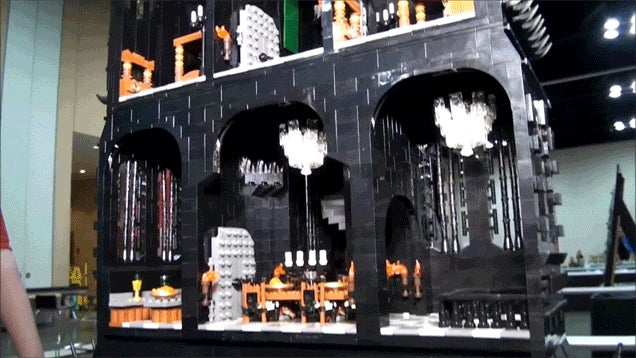 Someone Built an 8-Foot-Tall LEGO Version of The Tower of Orthanc