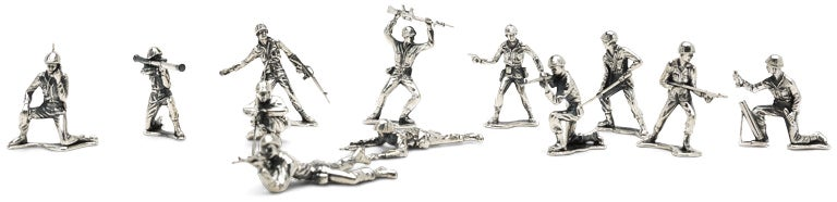 Sterling Silver Army Men Guarantee Your Kids Are Adequately Spoiled