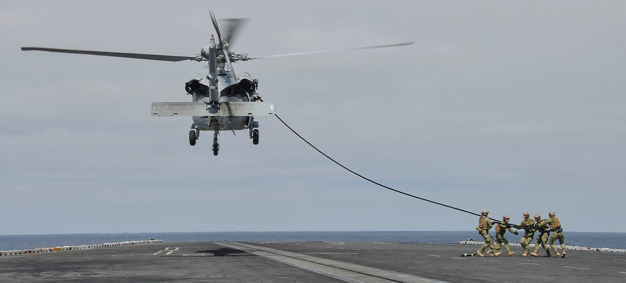 How Many Sailors Do You Need to Pull a Helicopter to the Ground?