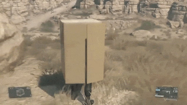 Metal Gear Solid V Has Cardboard Box Sledding