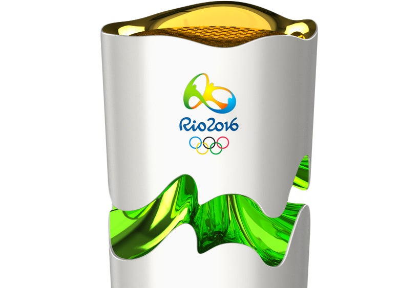 The Rio 2016 Olympic Torch Expands As Though It's Floating When Lit