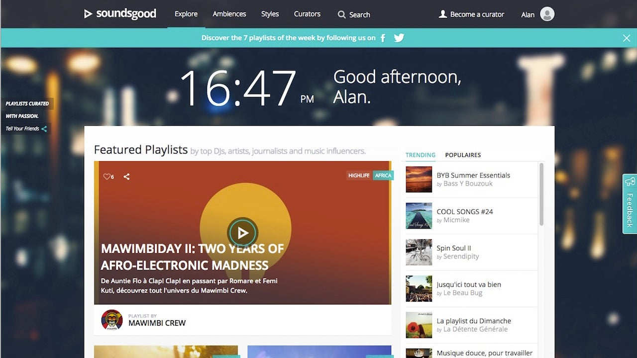 Soundsgood Features Playlists Curated by Real People, Influenced by You