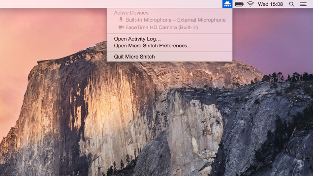 Micro Snitch Monitors Your Mac's Camera and Microphone Access