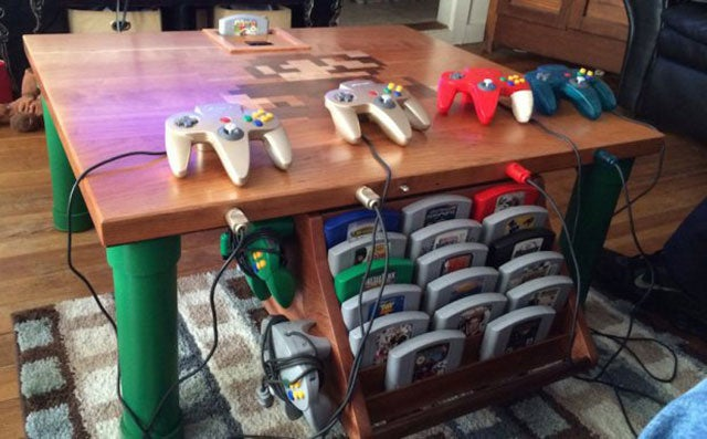 Sweet N64 Table Has N64 Inside Table
