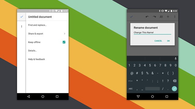 Google Docs for Android Gets Easier Title Editing and More